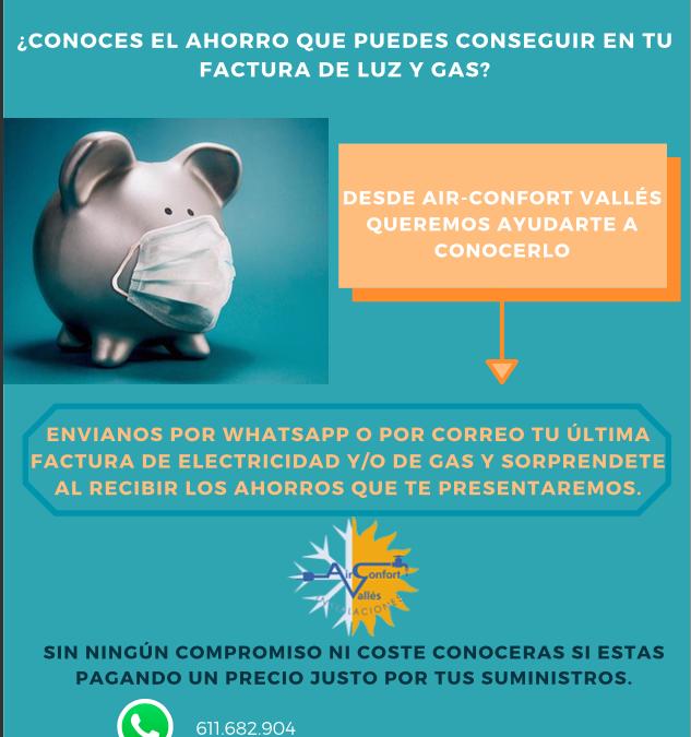 ¿Conoces el ahorro que puedes conseguir en tu factura de luz y gas?